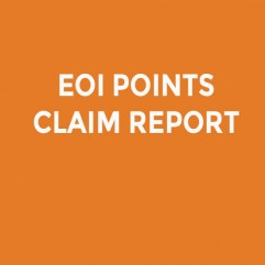 EOI POINTS CLAIM REPORT